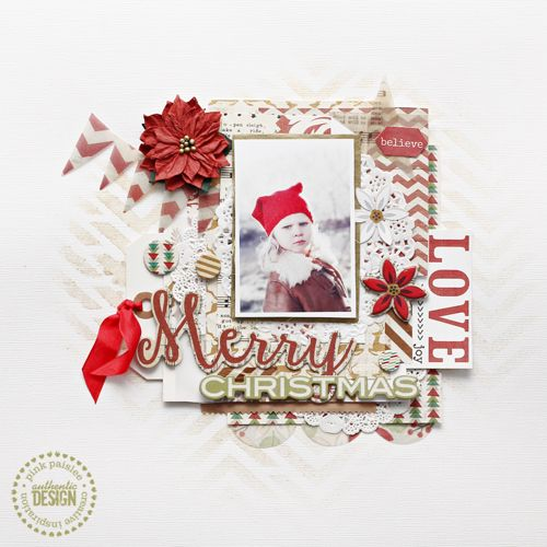 Handmade Holidays: Merry Christmas | Pink Paislee | 12 Days Of Handmade Holidays Event, Christin Grønnslett | #pinkpaislee #DIY #scrapbooking