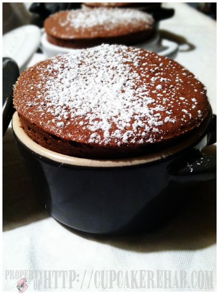 Individual chocolate souffle | sweets for the sweet | Pinterest