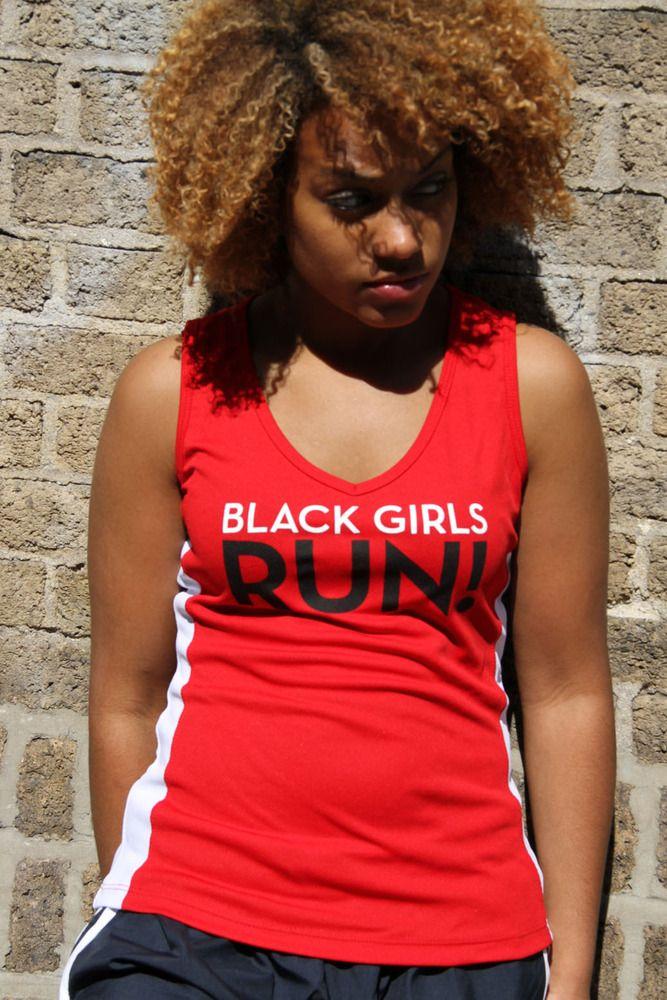 Immagine di Black Girls RUN!  Logo Canotta (Red)