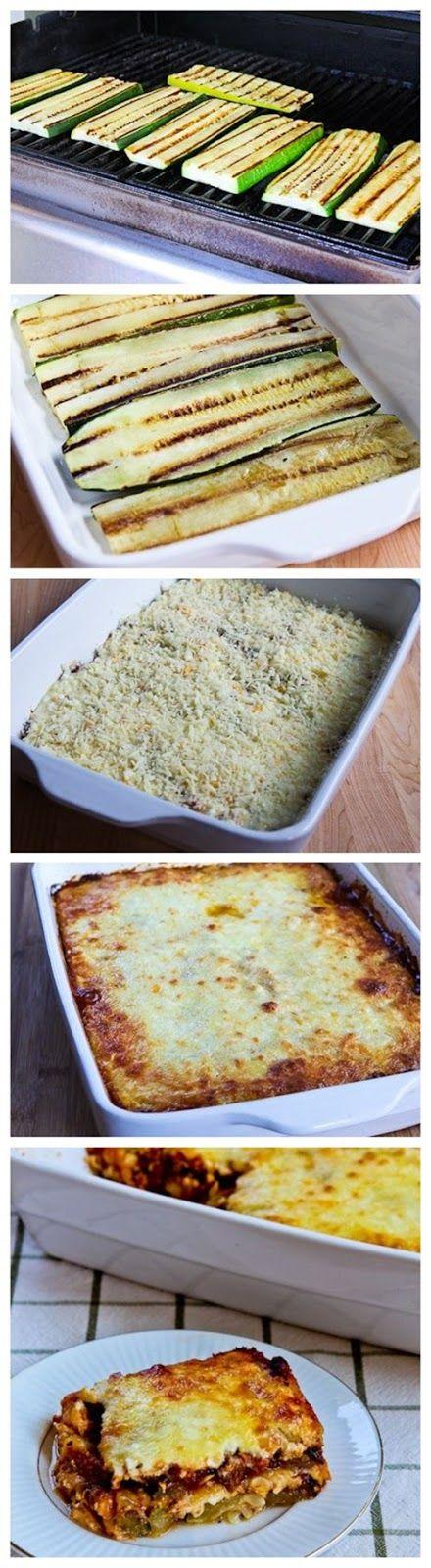 "Grilled Zucchini ""Lasagna"" With Italian Sausage, Tomato ..."