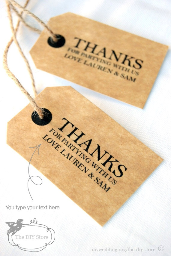 Thank You Wedding Gift Template : Wedding Tag, Thank You Tag, Favor Tag, Gift TagSmall Tag Template ...
