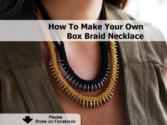 Make Your Own Crochet Box Braids : How To Make Your Own Box Braid Necklace Accesorios HTM Pinterest