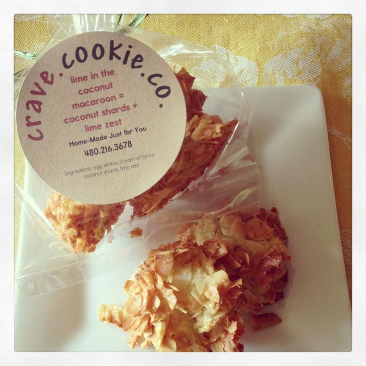 Lime in the coconut macaroons = coconut shards + lime zest / gluten ...
