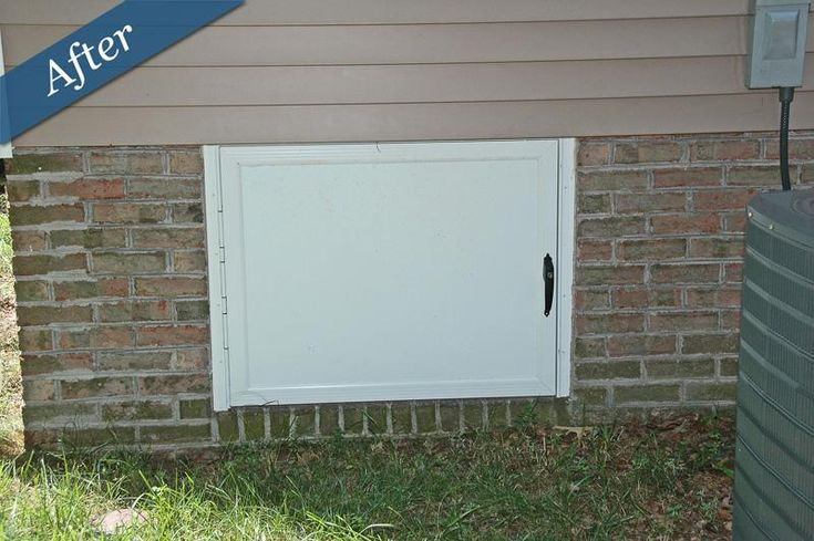 Crawl space doors by crawl space for Exterior basement access doors