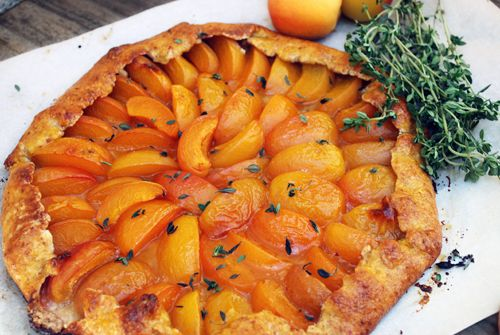 Apricot and Thyme Galette
