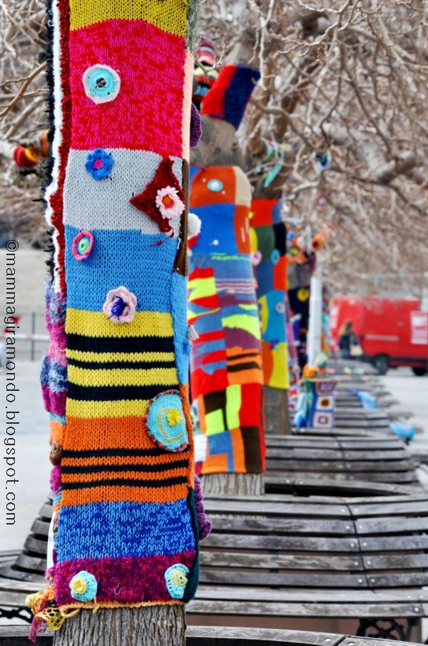 Intrecci Urbani. Yarn bombing a Genova