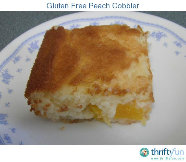 experimented making a gluten free Peach cobbler by using gluten free ...