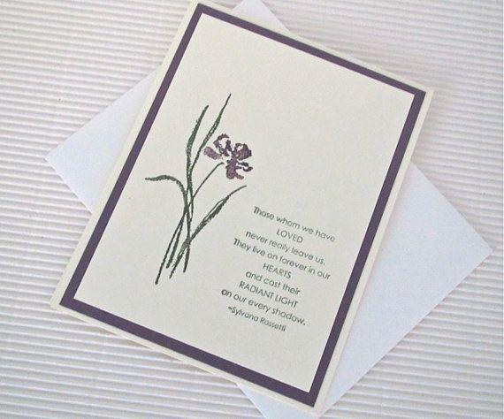 Condolence sympathy card handmade sted by quirkynberkeleycards 5