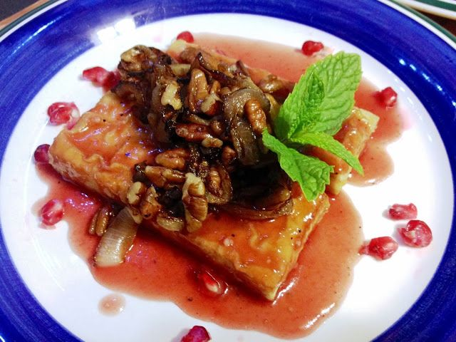 Green Guy Bruce Vegan Blog: Sauteed Tofu With Pomegranate, Pecans And ...