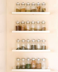 Waiting to do this in my kitchen, I have a million spices.  Only problem is I can't find cute spice bottles...  Has anyone come across any?  Please share!
