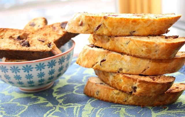 Cranberry-Almond Chocolate Biscotti | The Hobo Kitchen | Pinterest
