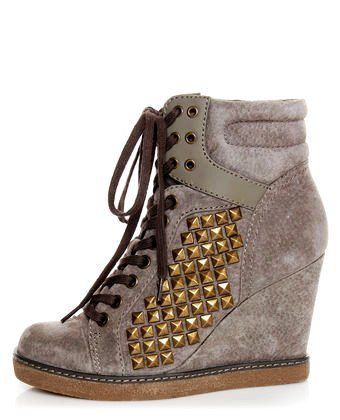 cute wedges shoes   ... Gold Women Wedge Shoes - Cute Studded Women