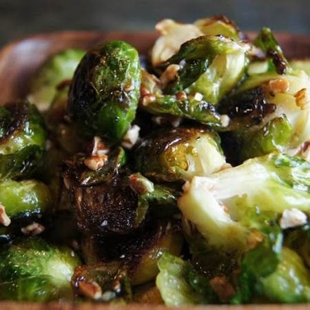 ... Brussels Sprouts with Honey Brown Butter, Pecans, and Green Apple