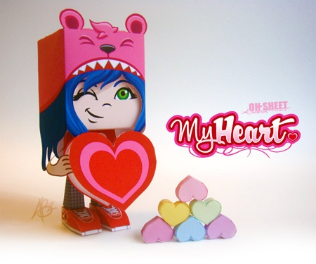 paper toys valentine's day