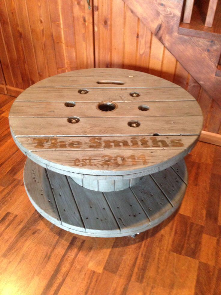 Repurposed wooden spool I made. | Repurposed items | Pinterest