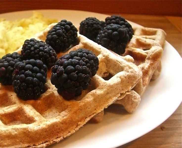 Whole wheat waffles with oats...new waffle maker at our house.