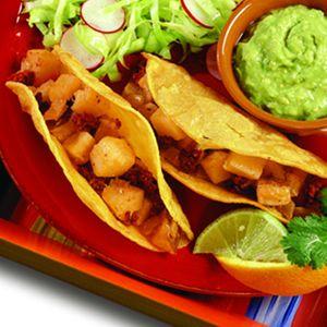 Potato-Chorizo Tacos With Avocado Salsa | Dinner Recipes from Culinar ...