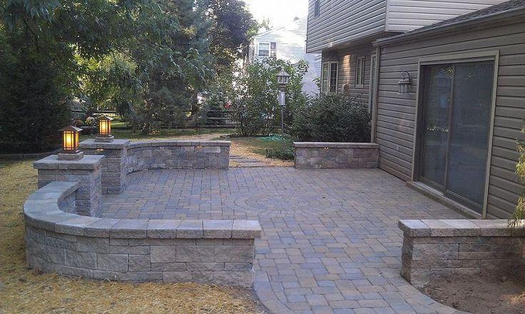 Patio Walls Around Patio Slab : Paver patio