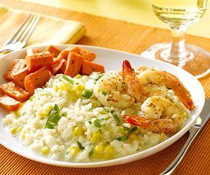 sausage and wilted arugula bulgur risotto with corn and shrimp recipes ...