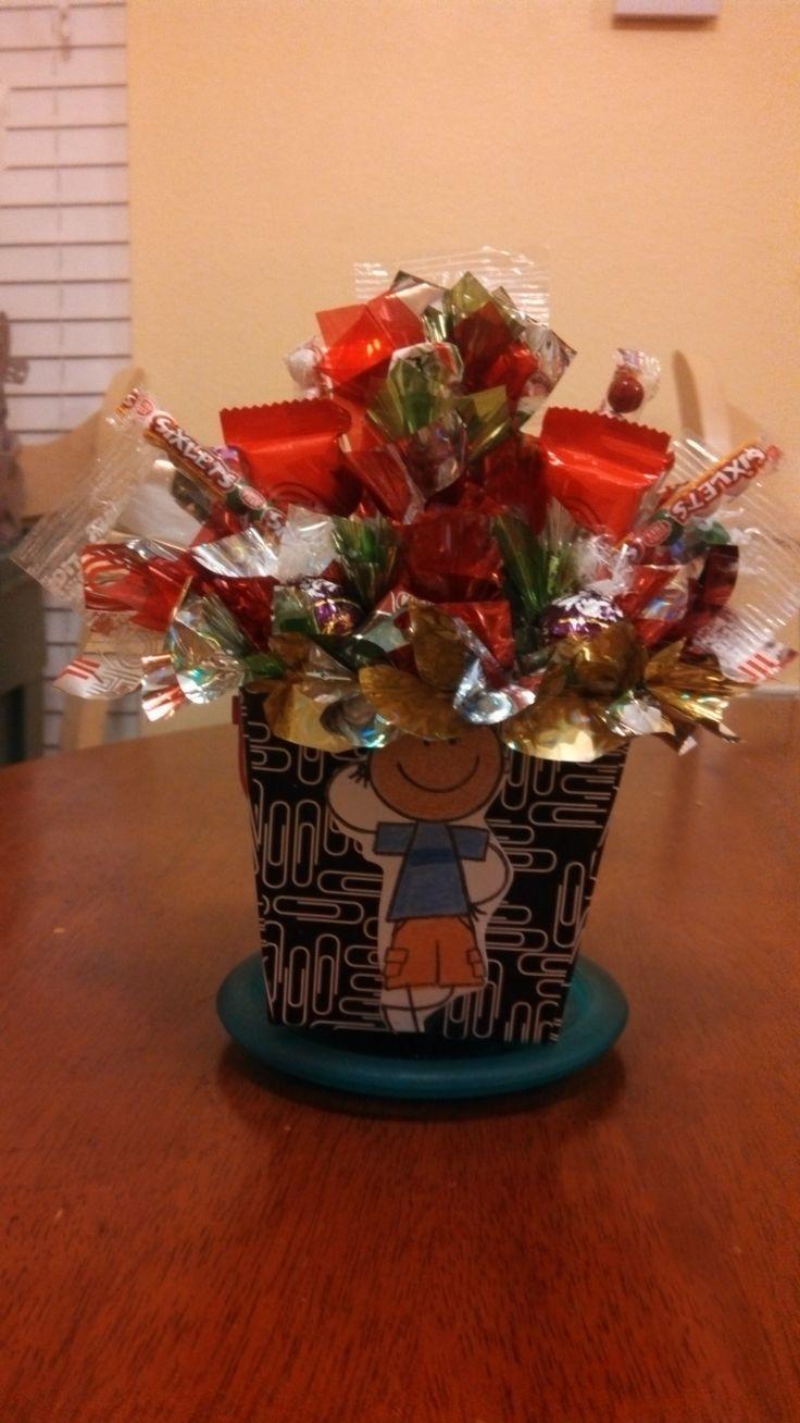 Boy's candy bouquet. | CANDY BOUQUETS | Pinterest