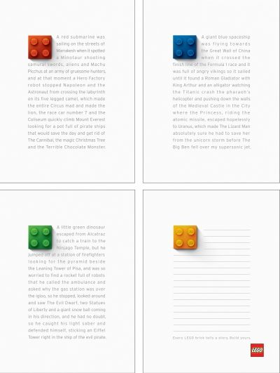 A LEGO ad, so simple but brilliant.