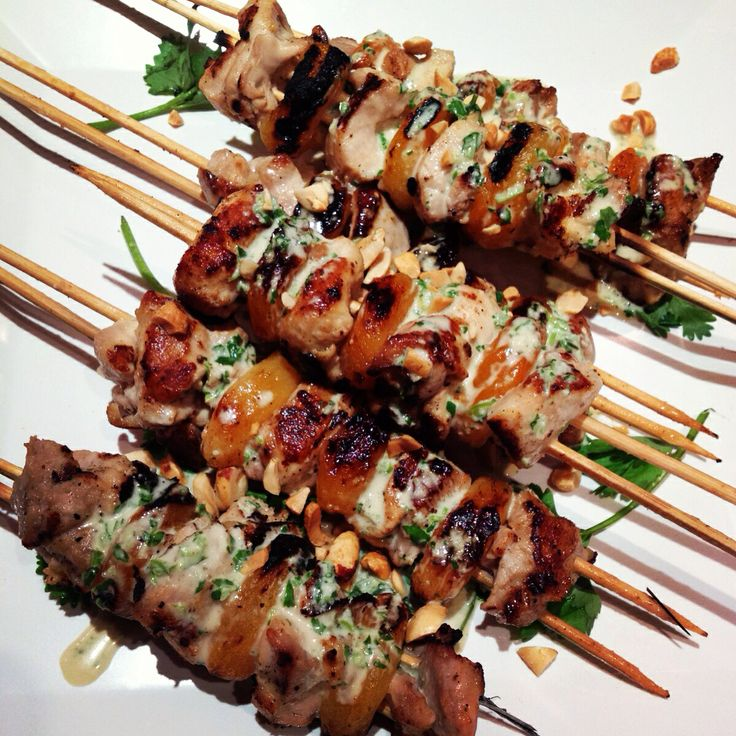Chicken apricot skewers for the demo today with a coconut lime sauce!