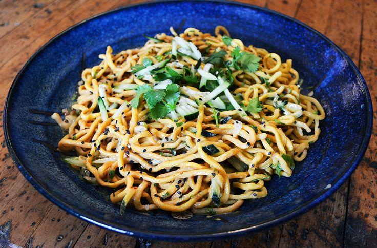 Cold Peanut Sesame Noodles | Asian, Thai, etc..... | Pinterest