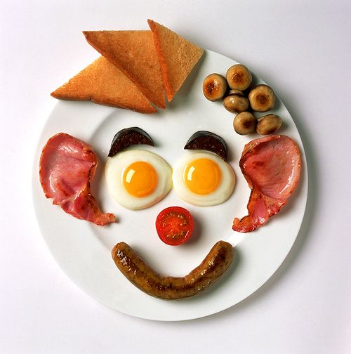 Breakfast face delicious food pinterest