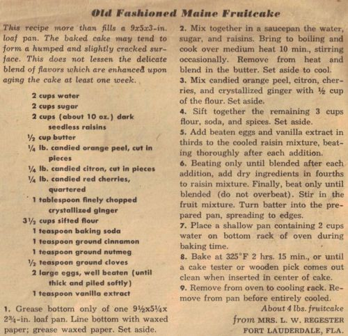 Old Fashioned Dark Fruit Cake Recipe