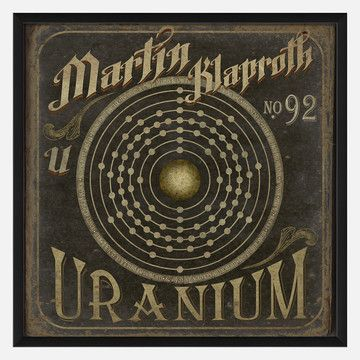 Klaproth No92 Uranium 25x25 now featured on Fab.
