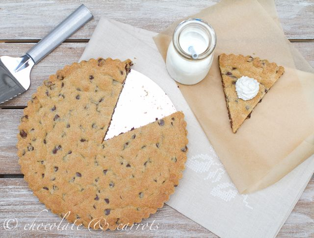 Whole Grain Chocolate Chip Cookie Cake | wholesome | Pinterest