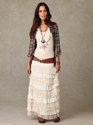 Ruffled Layers Maxi Skirt