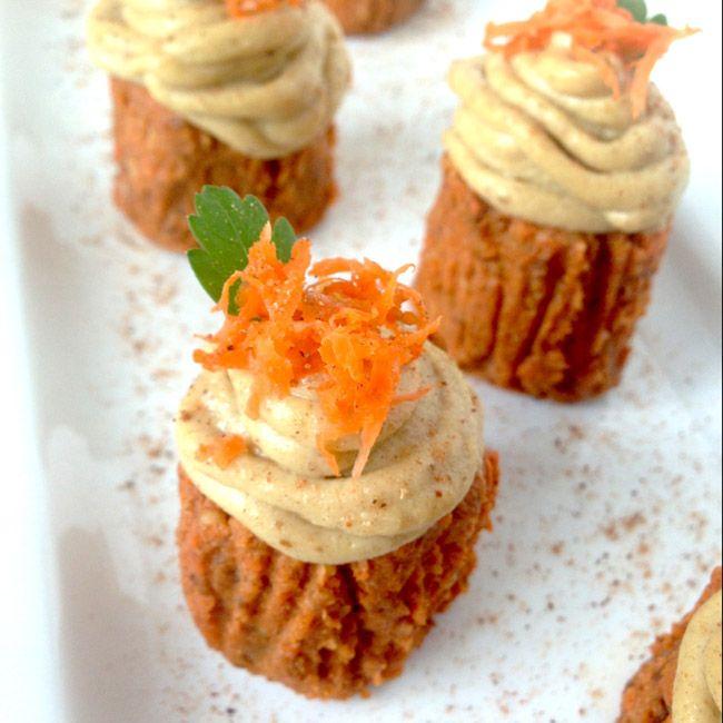 Raw Carrot Cake cupcakes. Gluten-free. Full of antioxidants. Fructose ...