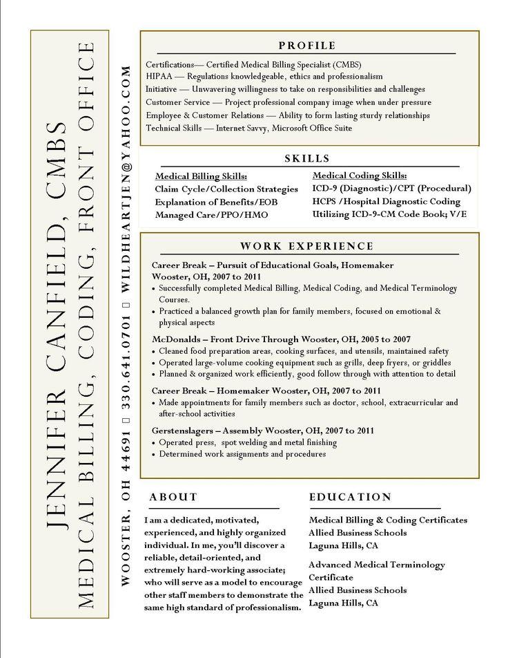 medical billing and coding resume sample medical billing and coding specialist design resumes sample resume objective