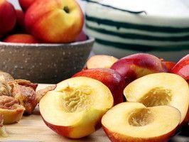 Grilled Peaches and Mascarpone Cream | Recipes | Pinterest