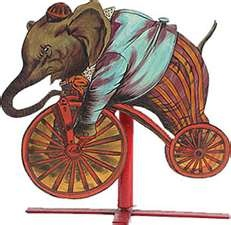 elephant # riding a bike