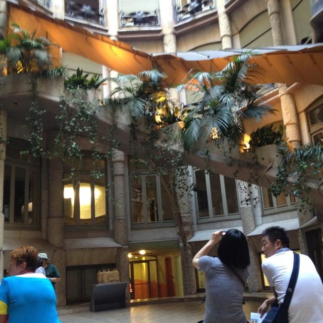 Casa Mila courtyard Casa Mila Courtyard