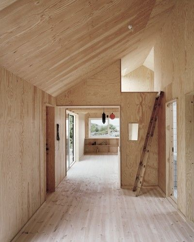 Plywood Ceiling In Vaulted Space