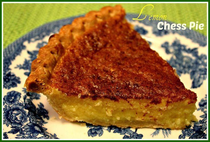 Sweet Tea Lemon Chess Pie Recipe — Dishmaps