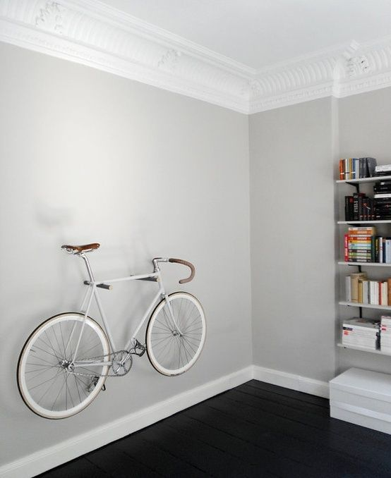 Bike as wall decor home inspiration pinterest for Bicycle decorations home