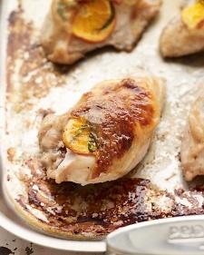 Tangelo-stuffed chicken breasts. Tuck tangelo slices and tarragon ...
