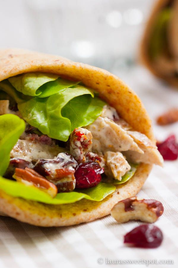 Chicken Wrap With Apples And Dried Cranberries Recipe ...
