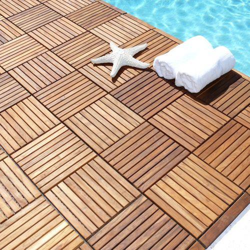 Exclusive Interlocking Teak Floor Tiles Flooring Pinterest