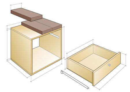 Wall Mounted Bedside Table Pinterest
