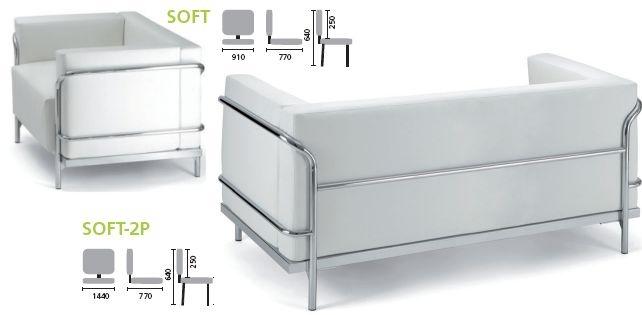 Salon dattente en cuir blanc SOFT. white Pinterest