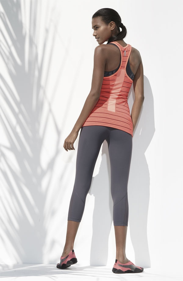 Zella #Nordstrom Great color and fit. Tank is really long!!