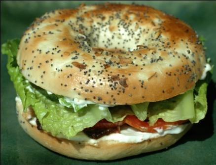 TLT on a bagel #sandwich
