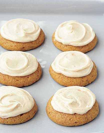Pumpkin Cookies with Brown-Butter Icing Recipe