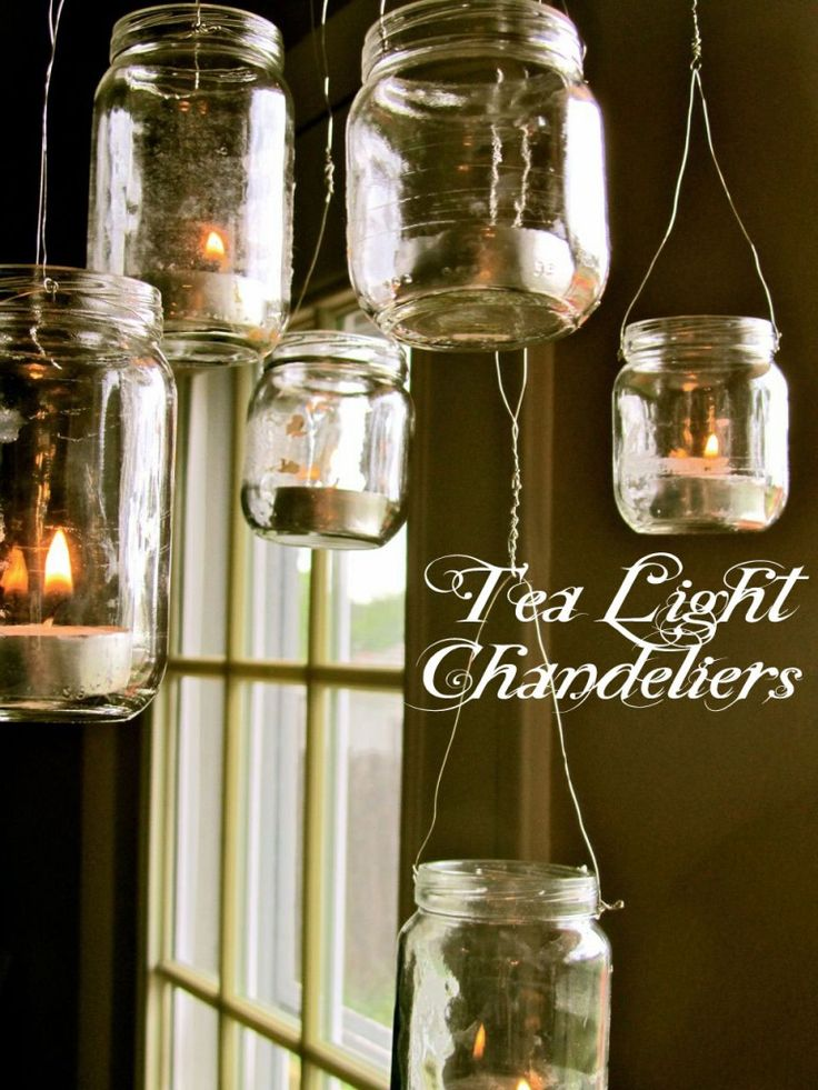 upcycled baby food jar chandelier