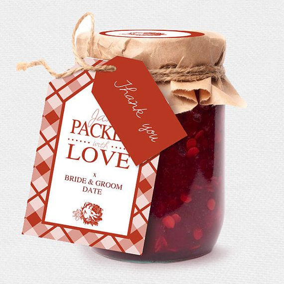 Wedding jam jar labels printable editable file jam favors spread